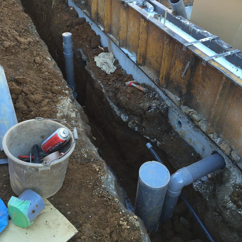 排水管工事2日目